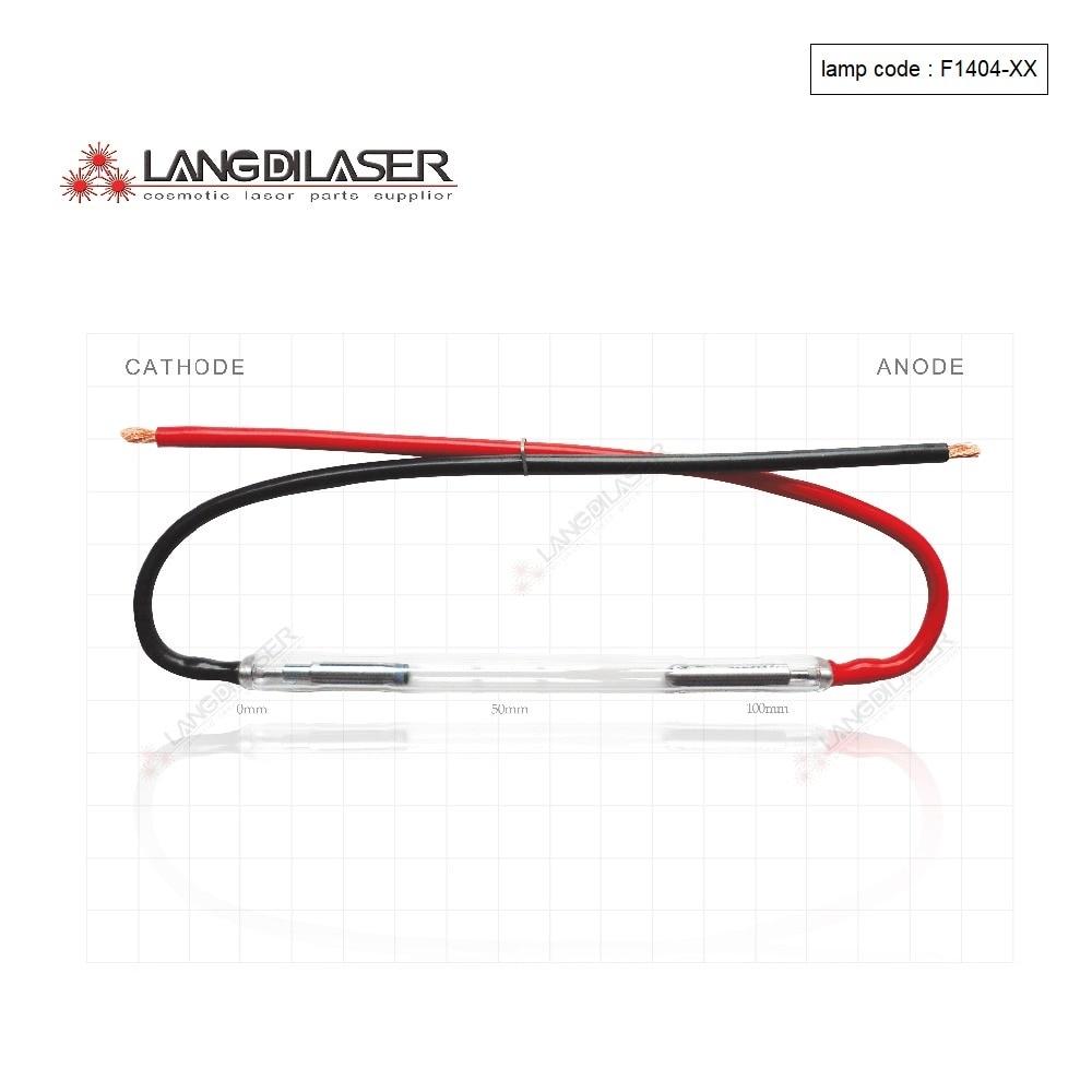 UK IPL lampen F1404  : 7*50*115F -wire ( 20 pieces order ) , SHR xeon lamp , IPL Lamp for leslaser and keslaser handpiece