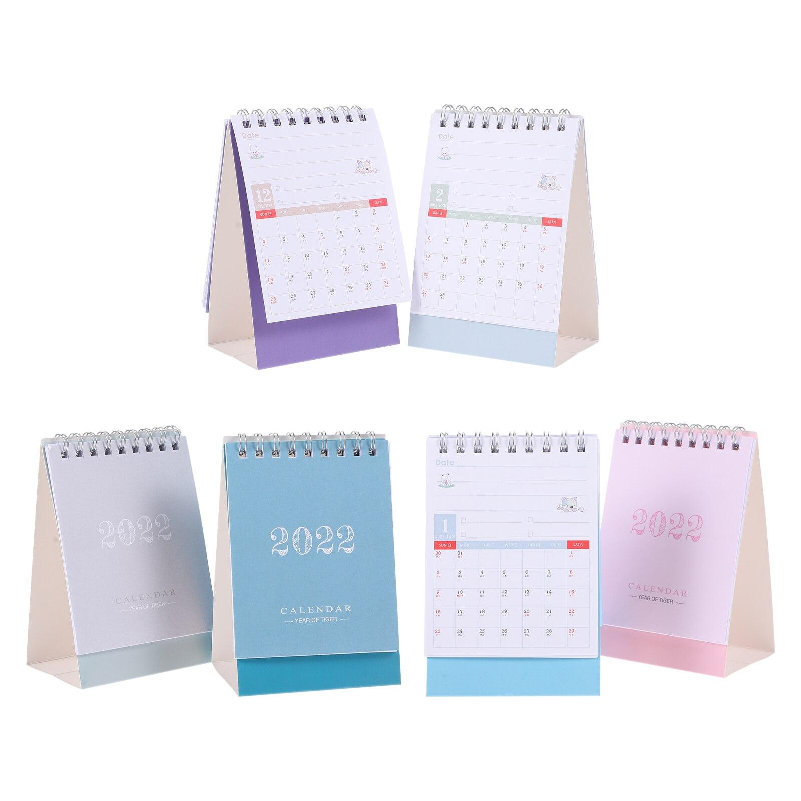 6 шт. бумажных календарей, креативные 2022 календарей, настольные календари (разные цвета)