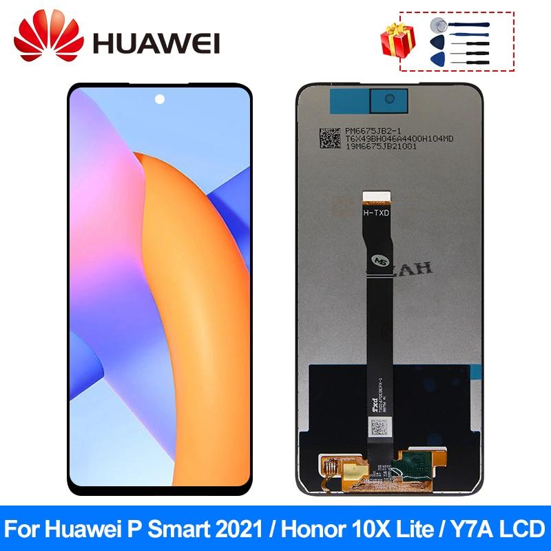 شاشة لمس LCD مقاس 6.67 بوصة لهاتف Huawei P Smart 2021 ، قطع غيار Y7A ، لهاتف Honor 10X Lite