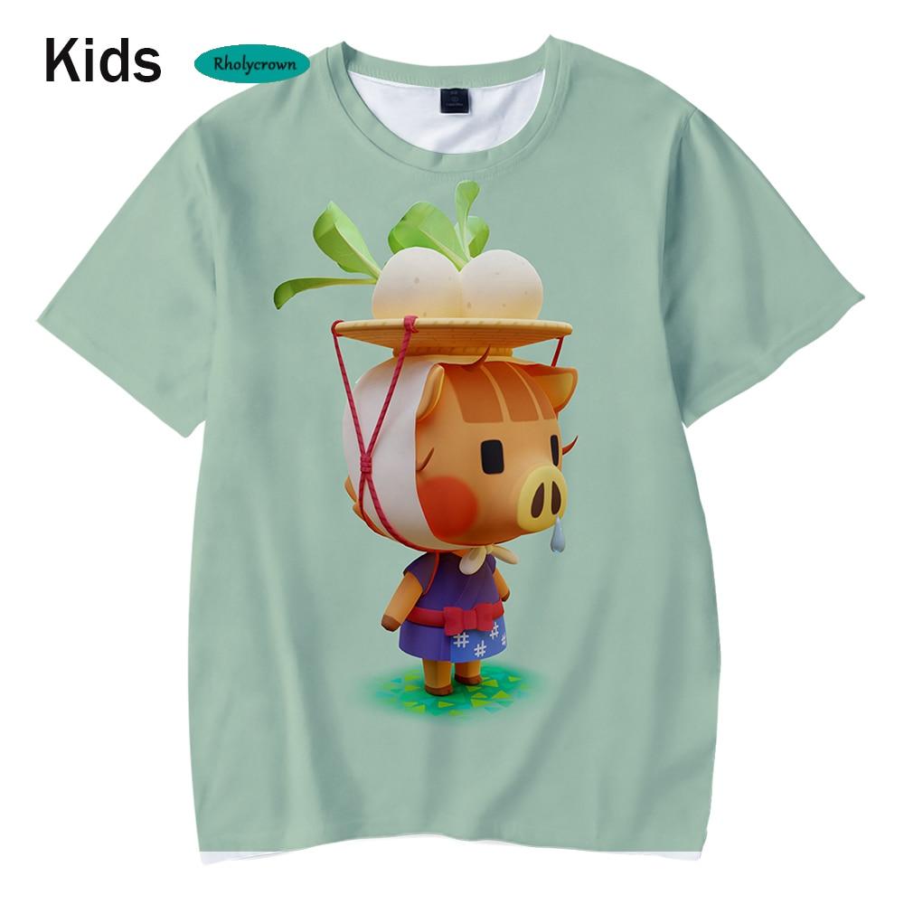 Summer 3D Animal Crossing Kids T-shirt Fashion Hip Hop Children's Tees New Boys Girls Short Sleeve Casual t shirt streetwear