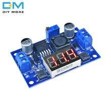 Понижающий модуль преобразователя мощности LM2596, светодиодный цифровой вольтметр, дисплей регулируемая плата DC-DC 2A, защита от короткого зам...