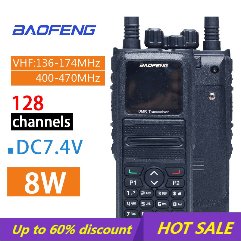 2021 الساخن BaoFeng DMR-1802Plus ثنائي النطاق لاسلكي تخاطب 5 واط VHF UHF VFO الرقمية/التناظرية المشفرة HF جهاز الإرسال والاستقبال Cb اتجاهين