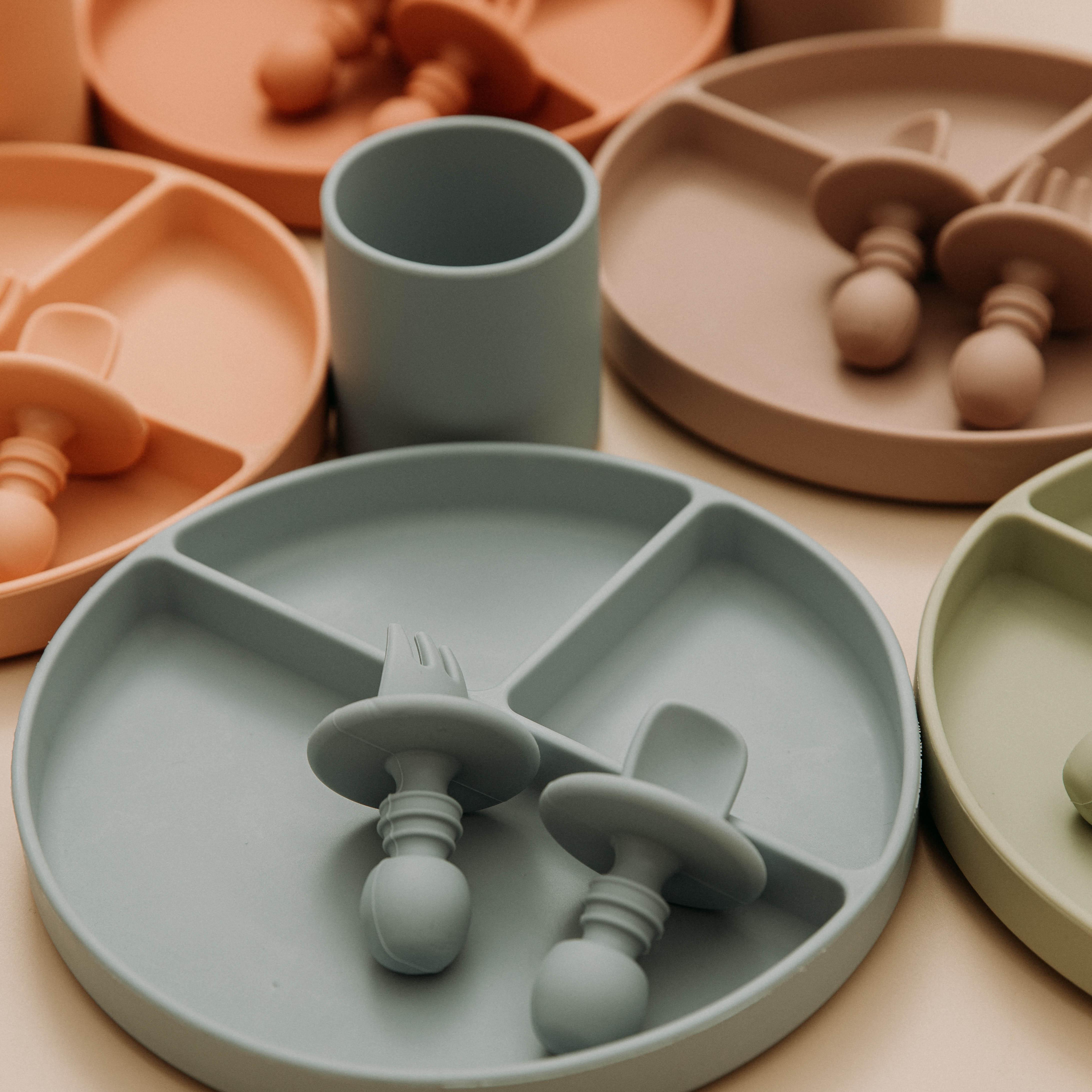 Vamos a hacer-plato de silicona para bebé de platos tipo tazón alimentación...