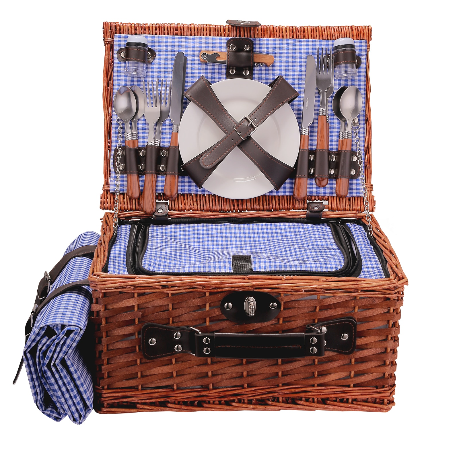 Плетеная корзина плетеная корзина для кемпинга корзинка для пикника на открытом воздухе плетеные корзины для пикника, ручная работа, корзи...