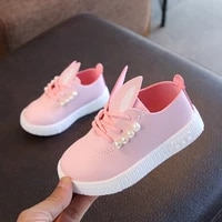 autumn winter children shoes for toddler girls sneakers pearl rabbit ear kids casual shoes animal baby shoes fashion anti slip