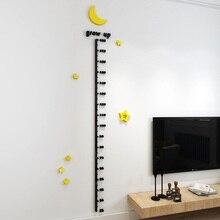Autocollant mural mignon pour enfants   Étiquette de mesure de la hauteur, papier peint pour chambres denfants, tableau de croissance des bébés pour maison