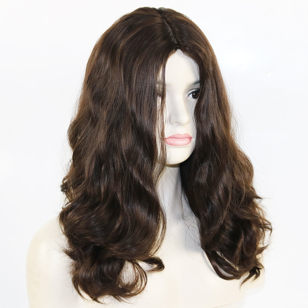 180% Extra Thick and Full Sheitels Kosher Wig Skin Silk Top European Remy Human Jewish Wigs Natural Black Brown Color
