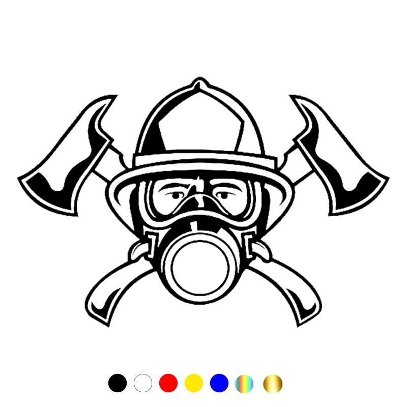 CS-10550# наклейки на авто Эмблема пожарного водонепроницаемые наклейки на машину наклейка для авто автонаклейка стикер этикеты винила наклей...