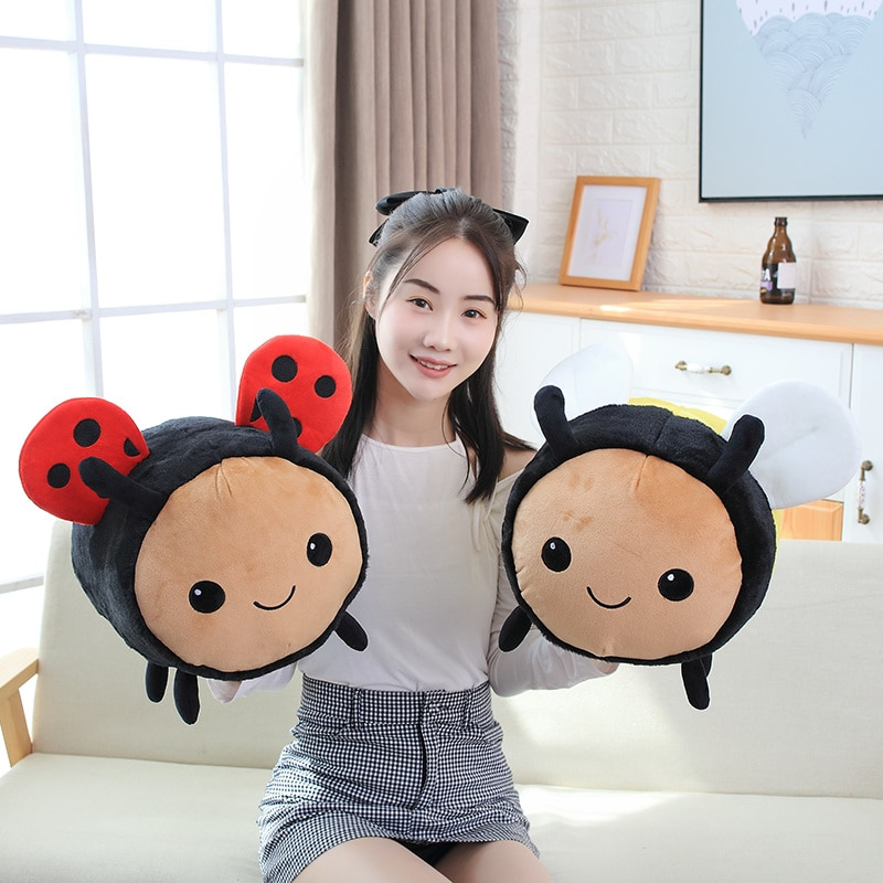 20-40cm Cute Stuffed Animals Bee Plush Toy Ladybug for Children Birthday Kawaii Gift Doll Sleeping Pillow Soft Plushies Toys  - buy with discount