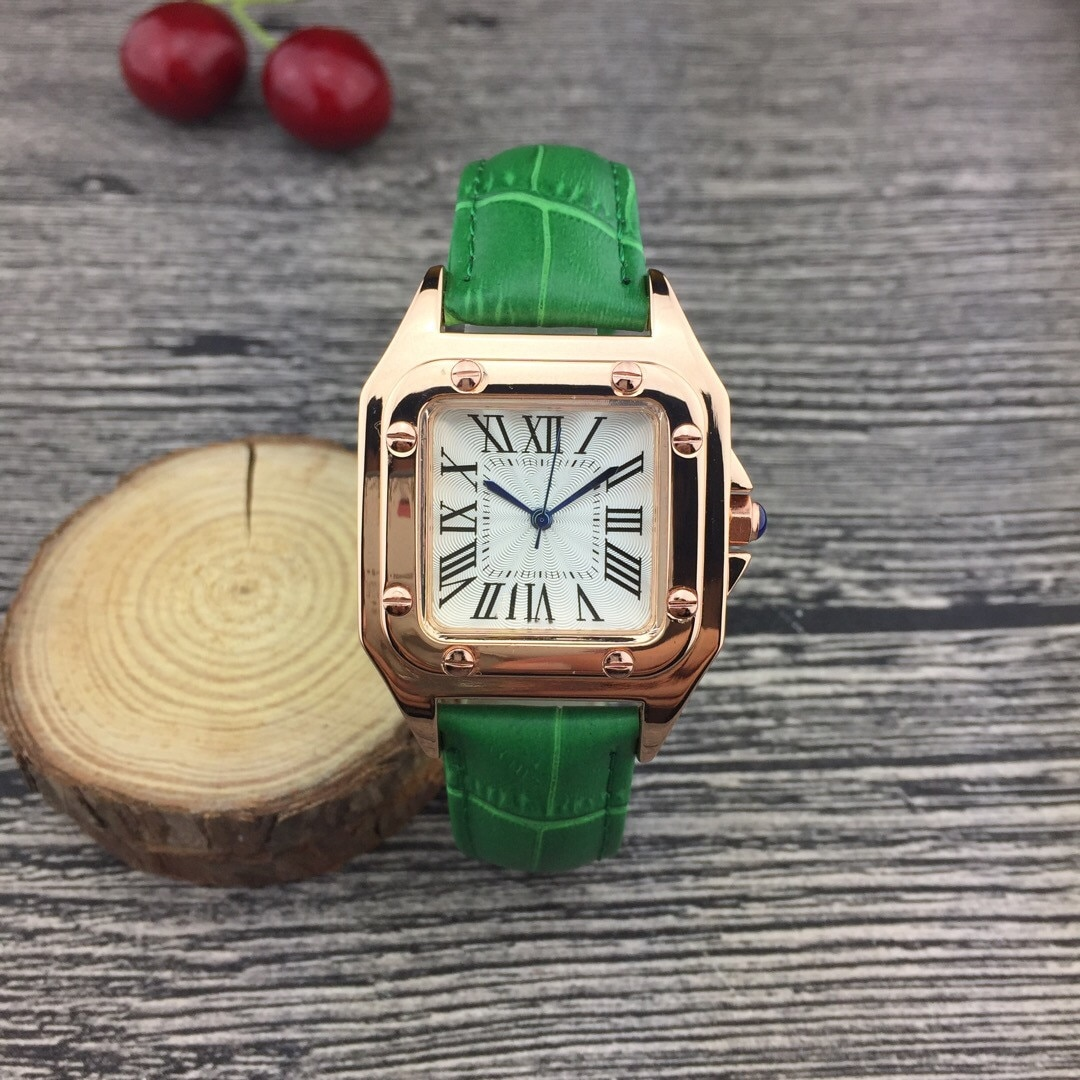 Luxury Brand New Women Quartz Wrist Watch Square Leather Strap AAA Sports Waterproof Watches Casual Simple Fashion Women Watches