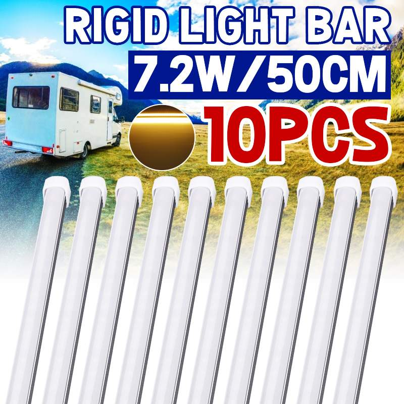 1/5/10PCS 50cm 9W 5630 36 SMD LED Waterproof Rigid strip Cabinet Light Bar with cover DC12V Cabinet