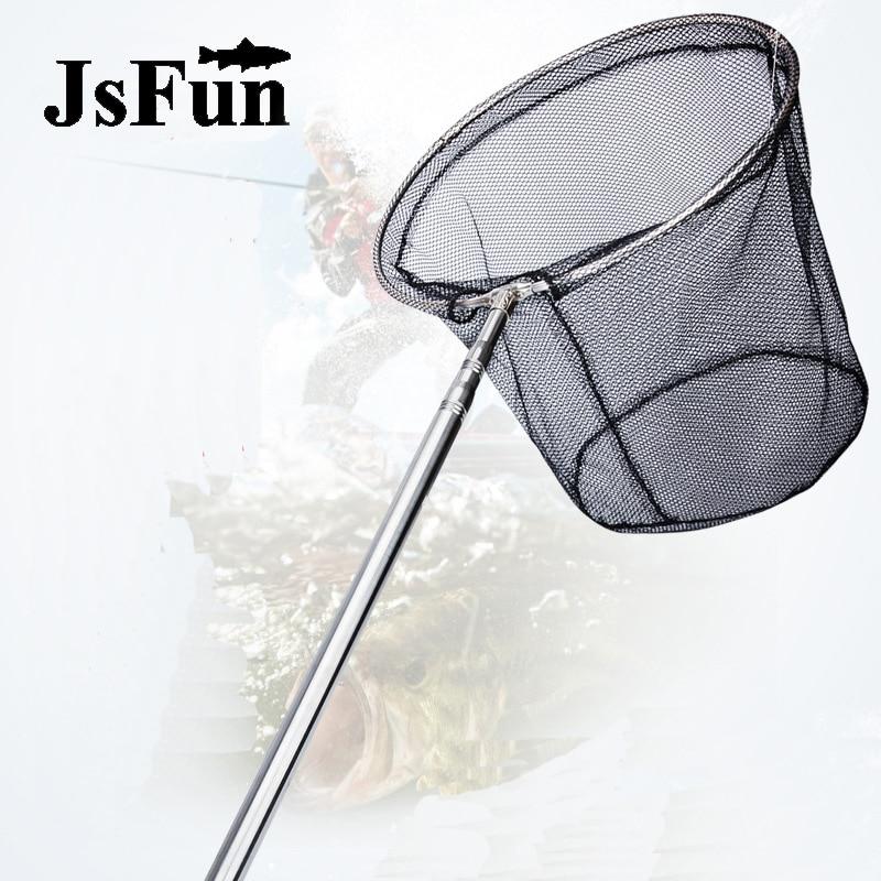 شباك صيد قابلة للطي من الفولاذ المقاوم للصدأ ، أدوات صيد ، شبكة صغيرة ، صب القطب ، FO378