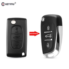 KEYYOU 2/3 bouton modifié coque de clé de voiture à distance pour Peugeot 307 408 308 4007 3008 pour Citroen C2 C3 C4 C5 C6 Picasso CE0536