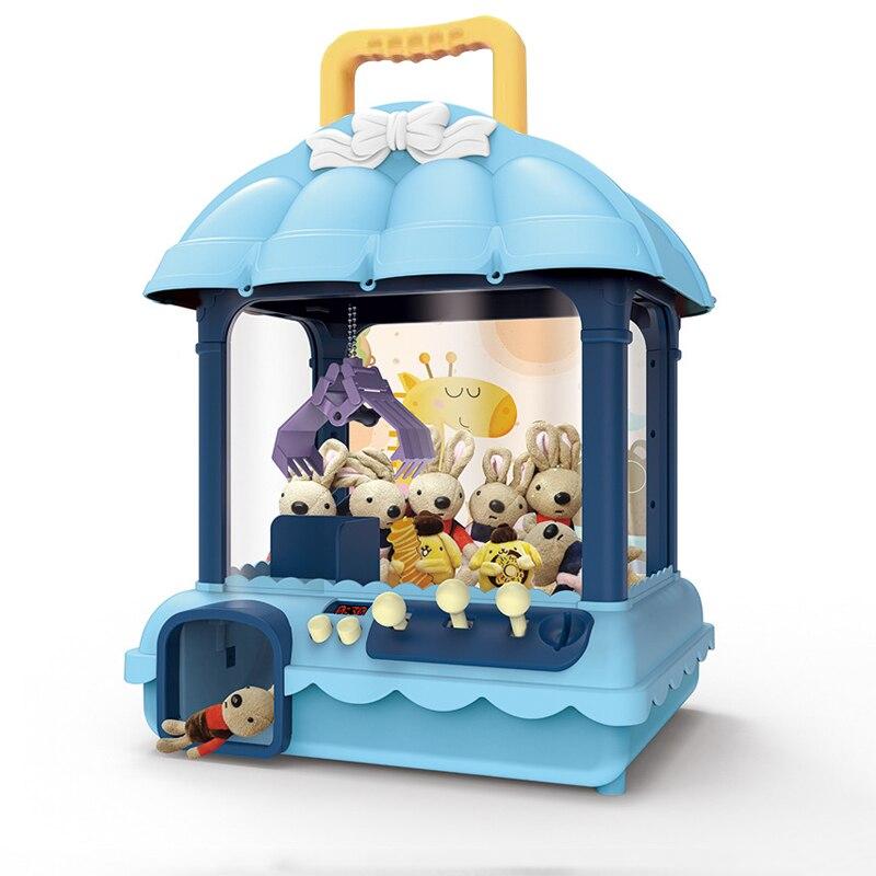 Giochi a gettoni portatili ABS Light Claw Machine Arcade Stick gioco da tavolo bambole Candy Grabber Slot Crane Machine