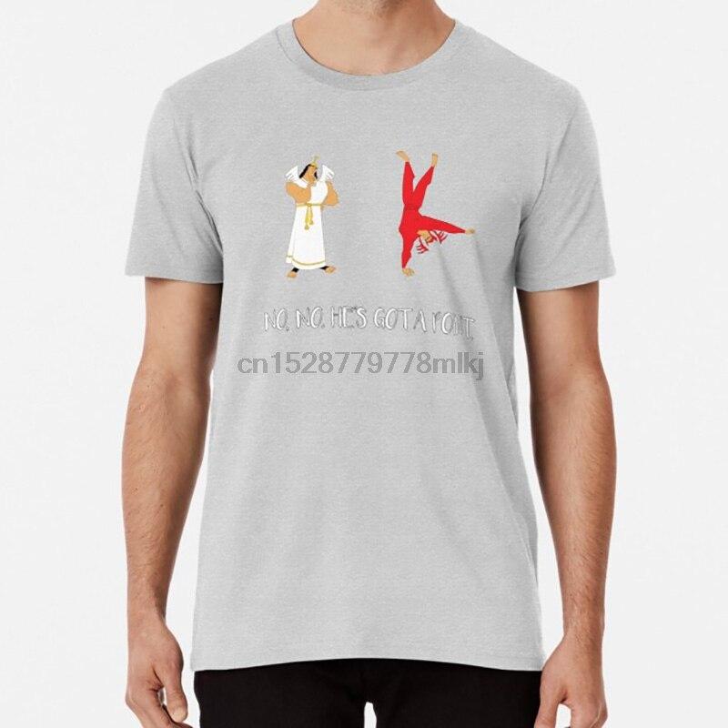 Camiseta de hombros de Ángel y Diablo, kronk kuzco, demonio, Ángel, hombros, Ángel, justicia, emperadores, nueva ranura, emperadores