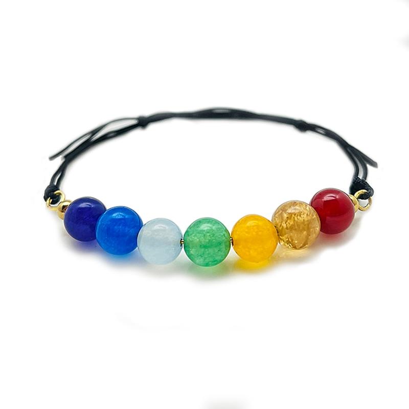 Boho Handmade Natural Stone Beaded Bracelets for Women Lace Up Multi Color Stone Wedding Bracelet Ch