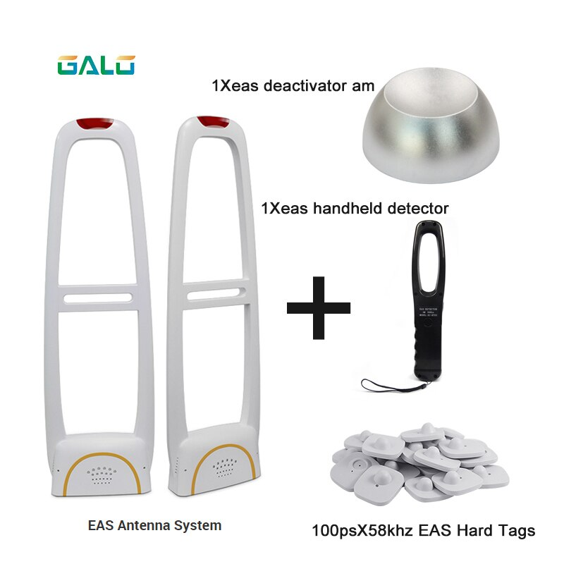 EAS alarm system clothing anti-theft gate system with Detacher& Hard tags& Handheld Frequency Tester set sell enlarge