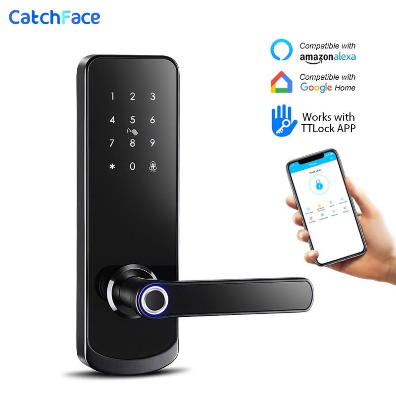 Get Electronic Door Lock Fingerprint Bluetooth Lock with Smart Touch Screen Lock Digital Safe Code Keypad Deadbolt For Home Hotel