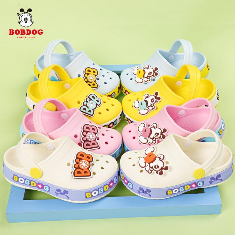 Children's slippers Babdog 1-5-year-old boy hole sandals girl Baby Princess Garden slippers Kids Fashion Beach Shoes SO013