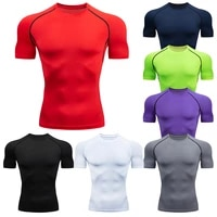 mens running compression tshirts quick dry soccer jersey fitness tight sportswear gym sport short sleeve shirt breathable