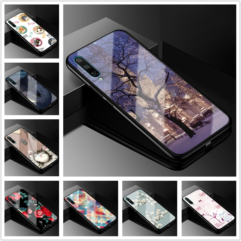 Para Huawei Nova 5T caso 6,26 moda vidrio duro contraportada fundas de teléfono para Huawei Nova 5T Nova5t 5 t 2019 parachoques de silicona