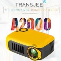 Mini projecteur miniature A2000 pour enfants  support de divertissement  240P  lecteur multimedia pour cinema a domicile