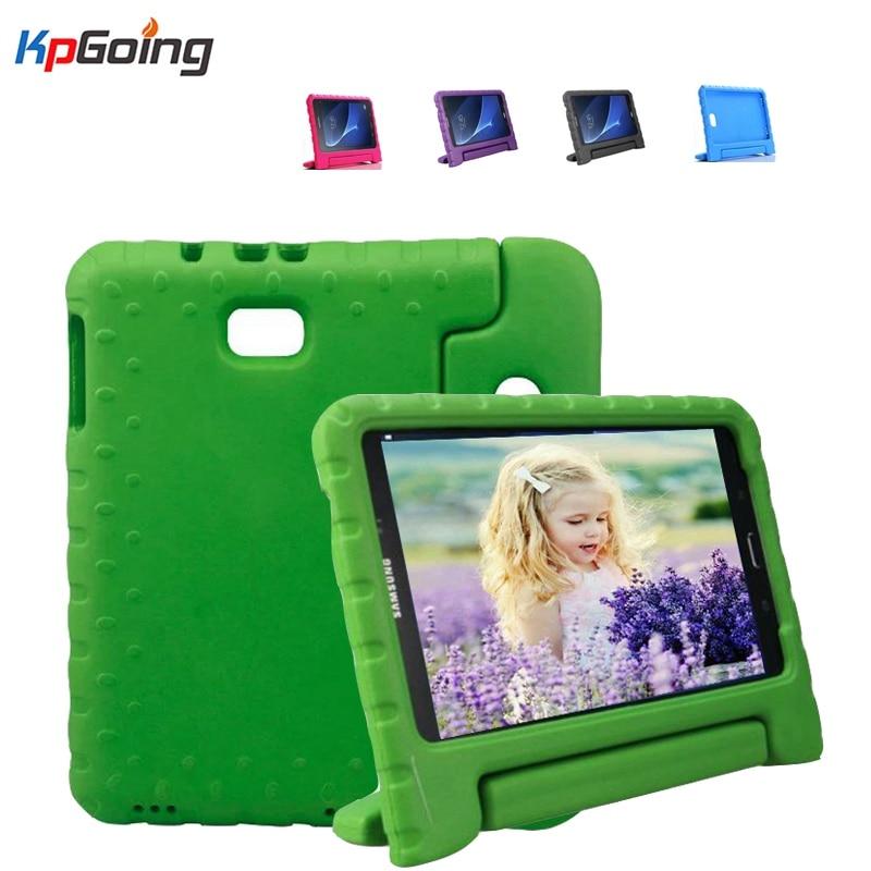 جراب مطاطي Eva لهاتف Samsung Galaxy Tab A 10.1 T580 ، جراب مع حامل لهاتف Samsung Tab A T580