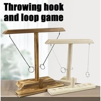 ring toss game wooden ring toss hooks detachable portable wooden board game