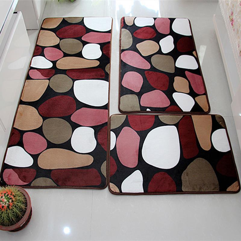 Juego de alfombra de baño con absorción de agua alfombra de baño estera de baño hogar sala de estar cocina puerta alfombra de suelo para Non-slip48 de inodoro