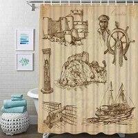 vintage gun shower curtain travel croatia art shower curtain waterproof fabric for bathroom decor shower curtains set with hooks