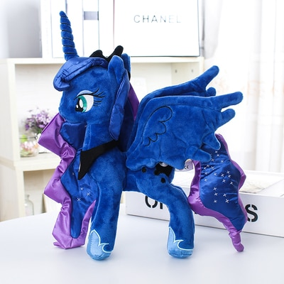 """Единорог принцесса Луна кошмар ночь большие глаза мультяшная фигурка мягкие животные лошадь плюшевая кукла детские игрушки 12 """"30 см"""