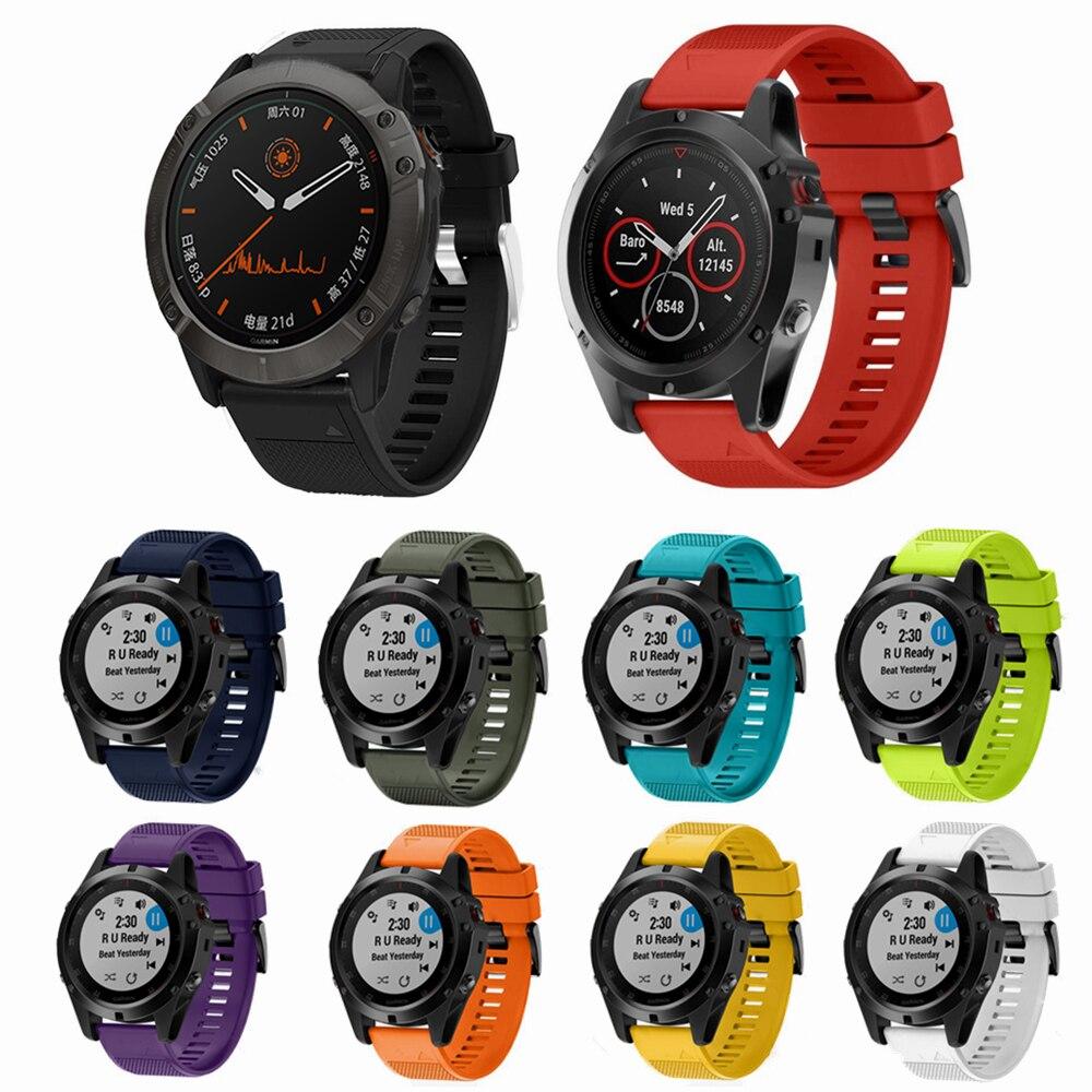 Para Garmin fenix6 6s 6x pro Solar Smart Watch correa de silicona para Garmin Fenix 5X5 5S Forerunner935 945 correa de liberación rápida