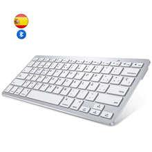 Испанская Bluetooth клавиатура легкая портативная тонкая беспроводная клавиатура teclado для Mac iPad iPhone iOS Android Windows Smart TV