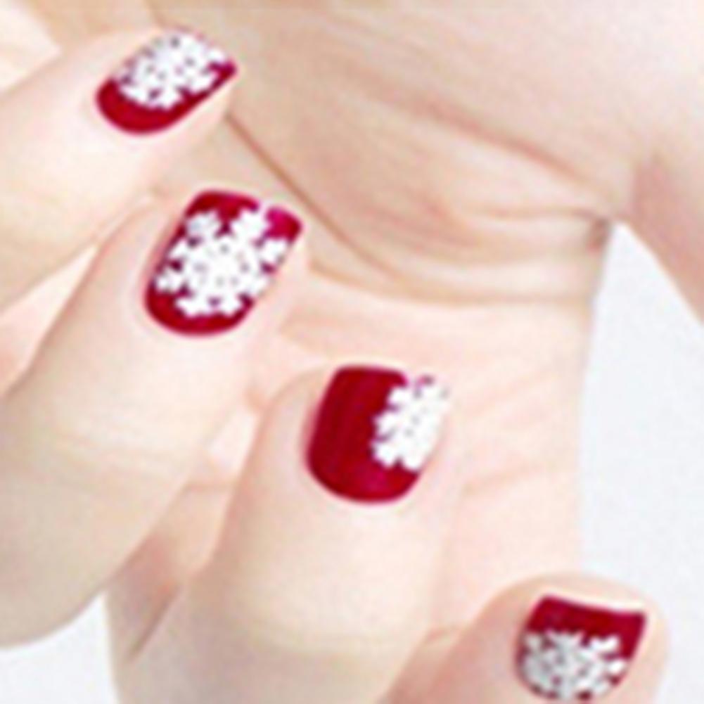 80% Hot Sale Nail Sticker 3D Snowflake Star Laser Glitter Pattern for Christmas Nail Art Transfer Foils Snowman Decal Girl Finge