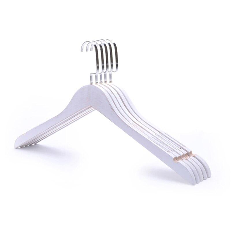 5/10pcs Custom Logo Wooden Hanger Perchas Para La Ropa Non-Slip Wood Coats Rack Skirt Pants Trousers Hangers with Clip Organizer