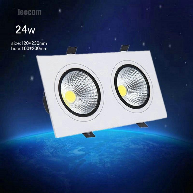 2018 limitado alto brilho 4 pcs lote 24w cabeca dupla praca downlight led 212 cob