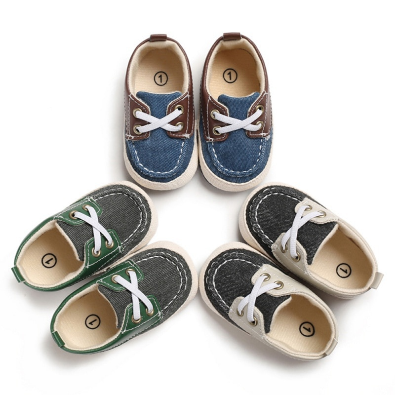 Infant PU Crib Shoes Newborn Baby Boy Shoes First Walkers Spring Autumn Baby Boy Soft Sole Shoes