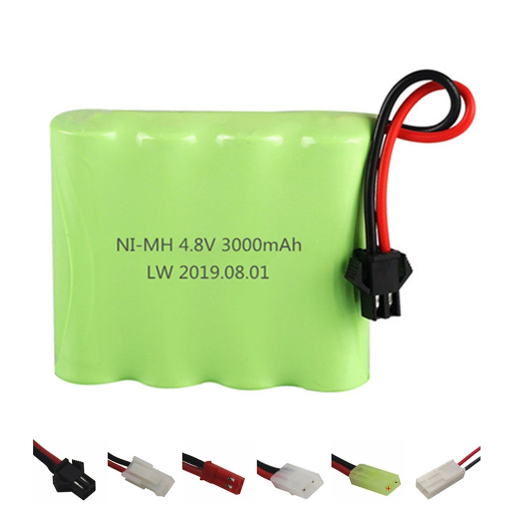 NIMH 4,8 v 3000mAh батарея для Rc игрушки машины танки роботы лодки пистолеты Ni-MH 4,8 v 2400mAh аккумуляторная батарея 1 шт