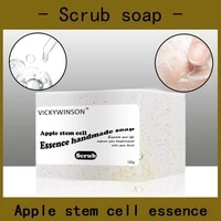 apple stem cell essence scrub soap handmade soap 100g amino acid soaps remove wrinkle anti aging facial skin care cold soap