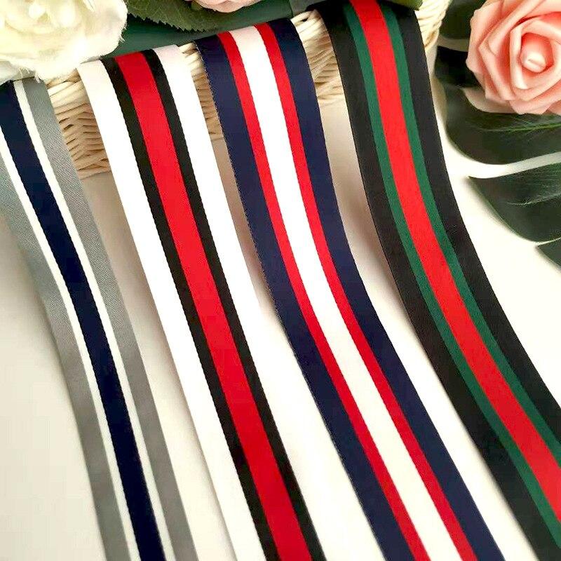 Superficie deslizante terylene lazo entrelazado ropa raya lateral bolsas DIY zapatos y sombreros accesorios cinta