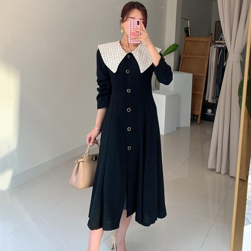 Spring Autumn New Fashion Female Button Long Sleeve Office Lady  Solid Shirt Dress Women Casual Slim New Dress spring autumn new fashion female button long sleeve office lady solid shirt dress women casual slim new dress