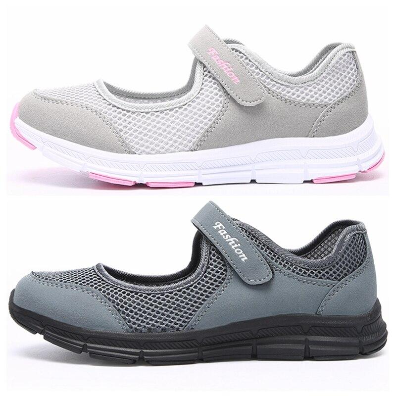 Delle Donne di modo Sneakers Casual Scarpe Femminile Della Maglia 2019 di Estate Scarpe Traspiranti scarpe Da Ginnastica Signore Cestino Femme Tenis Feminino