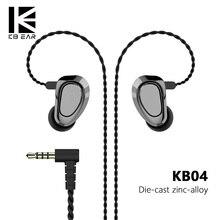 KBEAR KB04 1BA + 1DD Hybrid Treiber Laufen Sport ohrhörer HIFI DJ Monitor Abgenommen kabel 2 pin stecker Musik Headset KB10/KB06