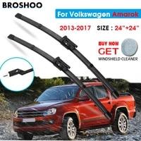 car wiper blade for volkswagen amarok 2424 2013 2017 windscreen windshield wipers blades window wash fit push button