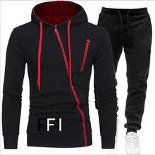 Marke Kleidung männer Casual Sweatshirts Pullover Baumwolle Männer Trainingsanzug Hoodies Zwei Stück + Hosen Sport Shirts Herbst Winter Set