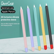 Soft Silicone Apple Pencil Cases For iPad Tablet Touch Pen Stylus Protective Sleeve Cover Anti-lost