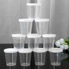 10 шт 100 мл прозрачные для лекарств измерительное приспособление/мерные чашки с крышками пластиковые чашки для выпечки Beaker жидкостное измерение контейнер для кувшин