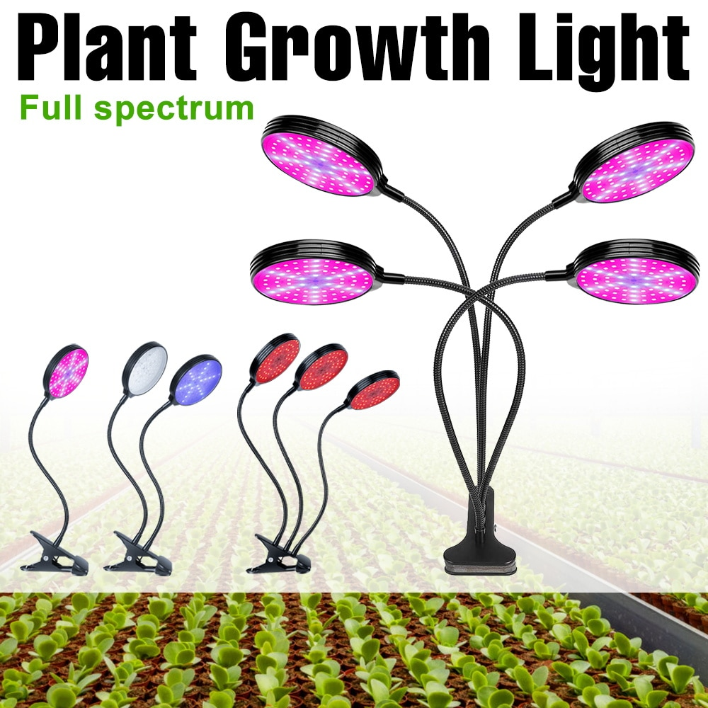 new 2 heads led grow light dual head 18w plant grow lamp led fitolampy with double on off switch for hydroponics grow system LED Full Spectrum Grow Light USB Phyto Lamp 5V LED Plant Light Hydroponics Bulb Waterproof Fitolampy 9W 18W 27W 36W Growing Lamp