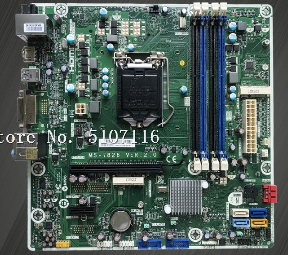 De alta calidad de escritorio placa base para 810/460 MS-7826 VER2.0 784740-001 se prueba antes del envío