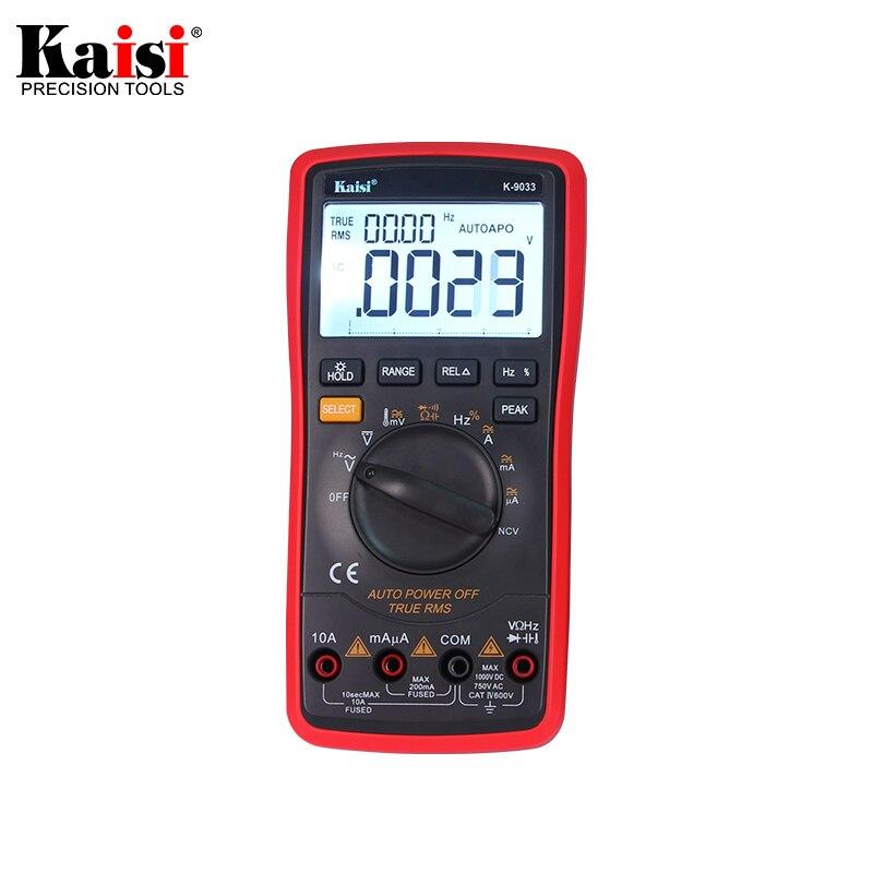 Kaisi 20000 عدد عالية الدقة التلقائي قياس المدى الرقمي المتعدد صحيح RMS الرقمية مكثف قياس درجة الحرارة